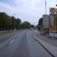 Anfahrtsansicht nach der Kreuzung Sankt-Gallen-Ring / Züricher Straße.