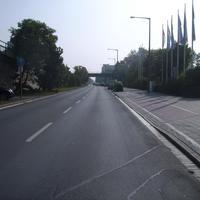 Anfahrtsansicht kurz hinter der Sigmundstraße.