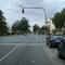 Anfahrtsansicht in Höhe der Kreuzung Bibertstraße. Die Standardmessstelle hinter der Schule liegt bereits hinter uns. Aber auch hier wird von Zeit zu Zeit gerne mal gemessen.