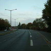 Anfahrtsansicht kurz vor der Einmündung Schnelldorfer Straße.