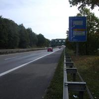 Anfahrtsansicht nach der Abfahrt Ansbacher Straße / Schweinauer Hauptstraße.