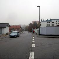 Anfahrtsansicht in Höhe der Einmündung Kastenreuth.