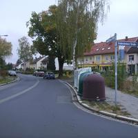 Anfahrtsansicht an der Einmündung zur Deidesheimerstraße kurz nach dem Beginn der Germersheimer Straße.