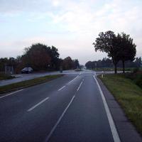Anfahrtsansicht kurz vor der Bamberger Straße.