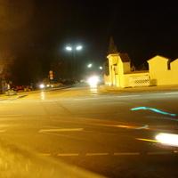 Kreuzung mit der Saurelacher Strasse am Anfang der Weidacher Strasse