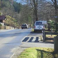 Anfahrt von Oberammergau her kommend. Hier wurde man schon gemessen.