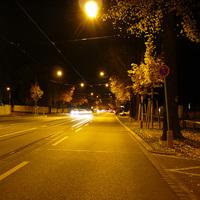 Anfahrtsansicht kurz hinter der Kreuzung Thumenberger Weg.