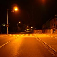 Anfahrtsansicht kurz vor der Einmündung Herpersdorfer Straße.