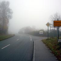 Anfahrtsansicht in Höhe des Ortseingangs. Wie für Passau üblich hatte es am Morgen wieder Nebel soweit das Auge reicht...