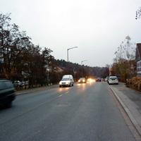 Anfahrtsansicht in Höhe der Einmündung Nürnberger Leithe.