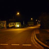 Anfahrtsansicht kurz hinter der Kreuzung Limbacher Straße.