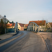 Anfahrtsansicht kurz vor der Einmündung Walpersdorfer Straße.