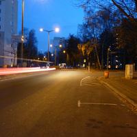 Anfahrtsansicht nach der Karl-Schönleben-Straße Höhe Einmündung Zugspitzstraße.