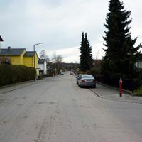 Anfahrtsansicht in Höhe der Altenfurter Straße.