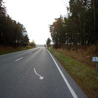 Anfahrtsansicht in Höhe KM 13,0 nach der Abzweigung Kapsdorf / Leipersloh.
