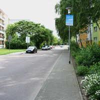 Anfahrt auf die Messstelle. Der Messwagen steht recht häufig an dieser Stelle und den angrenzenden Straßen.