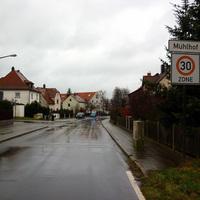 Anfahrtsansicht am Ortseingang von Mühlhof von Krottenbach her kommend.