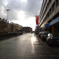 Anfahrtsansicht am Beginn der Bucher Straße (hier treffen sich Nordring, Nordwestring und Erlanger Straße).