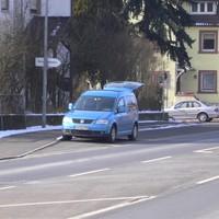 Nahansicht Fahrtrichtung Laufach-Frohnhofen, Hösbach, Aschaffenburg.