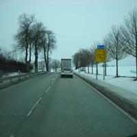 Hier haben wir die Anfahrtsrichtung aus Sternberg kommend. Fahrtrichtung ist Schwerin & zur BAB 14.