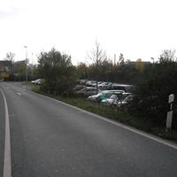 Kurz vor der Parkplatzeinfahrt