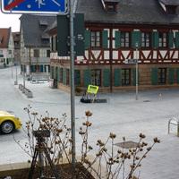 Ansicht von der Spitalstraße aus auf das Messgerät.