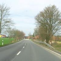 Anfahrtsbild von Rtg.Ratzeburg kommend, noch nichts zu erkennen.