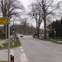 hier haben wir die Anfahrtsansicht von Lübeck aus kommend.