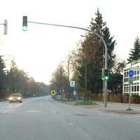 Anfahransicht B 75 in Rtg. Travemünder Allee