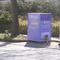 """und """"Blitz"""". hier die Kamera mit Wabenfilterblitz. Gut versteckt an den Containern."""
