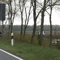 Diesmal auch das Messfahrzeug (Opel Vectra Caravan) mit auf dem Bild.
