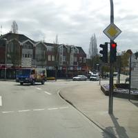 Hier haben wir das erste Bild der Anfahrtsrichtung. Ich befinde mich in der Neustädter Straße.Links gehts in die Mühlenstrasse
