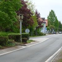 Die Messstelle im Überblick. Fahrtrichtung Ortszentrum