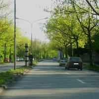 Hier wird geblitzt, Foto gemacht wenn mehr als 59 Km/h gefahren wurde in Richtung zur Wakenitzbrücke ...
