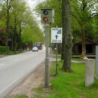 """An der Bockhorner Landstrasse Nr. 61 steht der """"Starenkasten"""" und hatte gerade geblitzt. Also Kamera scharf heute !!!"""
