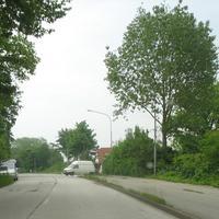 Hier die Anfahrt von der B 75 / Lübeck