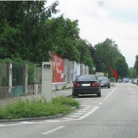 Radarbox Siemens ERS 400 Kolpingstraße 13 - 250m dahinter (Pfeil) die Attrappe auf Höhe Kolpingstraße 29