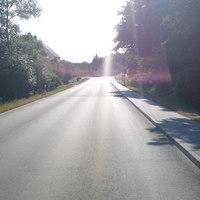 Anfahrtsansicht - aus Richtung Marbach kommend hatte man noch die Sonne gegen sich, also so gut wie null Chance hier noch rechtzeitig was zu erkennen