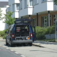 Der Neue Blitzer in Flensburg. VW  Caddy
