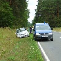 Auf der Fahrt zu einer weiteren Messstelle musste 2 Kilometer weiter östlich ein Unfall bis zum Eintreffen eines Streifenwagens abgesichert werden!