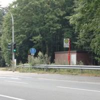Hinter der Ampel beidseitig Rtg Hamburg und Rtg Bremen