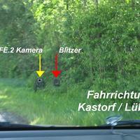 """Das """"Blitzgeschirr"""" in Fahrtrichtung Kastorf / Lübeck"""