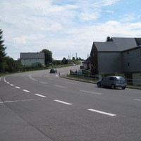 Kurz vor dem Ortsausgang Hohndorf Richtung Marienberg.