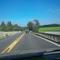 Gerade Strecke mit leichtem Gefälle in beiden Richtungen. Da fällt es schwer, 60 km/h zu fahren.