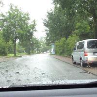 Bei leichtem Nieselregen war leider kein besseres Bild beim vorbeifahren möglich ...