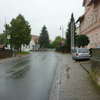 Messung in Höhe des Rathauses in Fahrtrichtung Forchheim.