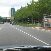 Ansicht bei Tage, Westring Höhe IKEA (gegenüber), Richtung Anschlussstelle A215-Kiel Mitte  Messbereich: bis zu 3 Fahrspuren