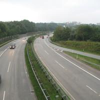 Blick von der Brücke (Blitzer ist hier nicht aktiv)