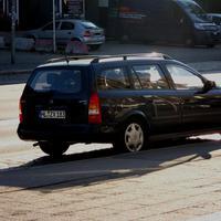 Der Astra mit Multanova 6F im Heckfenster....