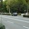 Anfahrt auf den Radarwagen der Stadt Bonn, heute mit BN im Kennzeichen. Fahrzeug ist ein dunkelblauer Opel.